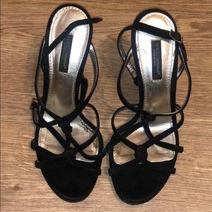 Authentic Dolce and Gabbana Strappy Black Heels.
